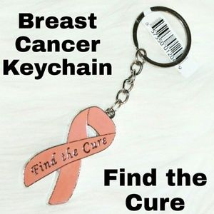 Find The Cure Breast Cancer Awareness Keychain